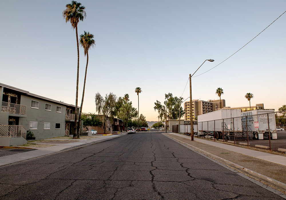 The Phoenix neighborhood of Edison-Eastlake, where the average annual heat-related death rate is 20 times higher than the rest of Maricopa County. Photo courtesy Ash Ponders.