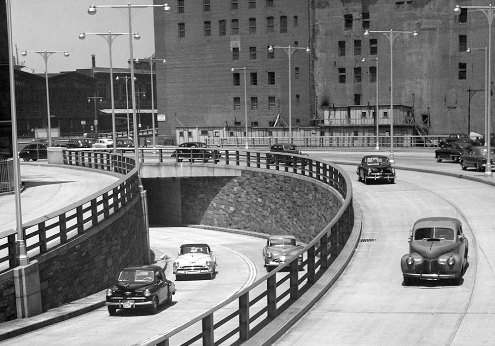 The roadways that dazzled 1940s drivers aren't always a good match with modern transportation priorities. Photo by George Marks/Retrofile RF.