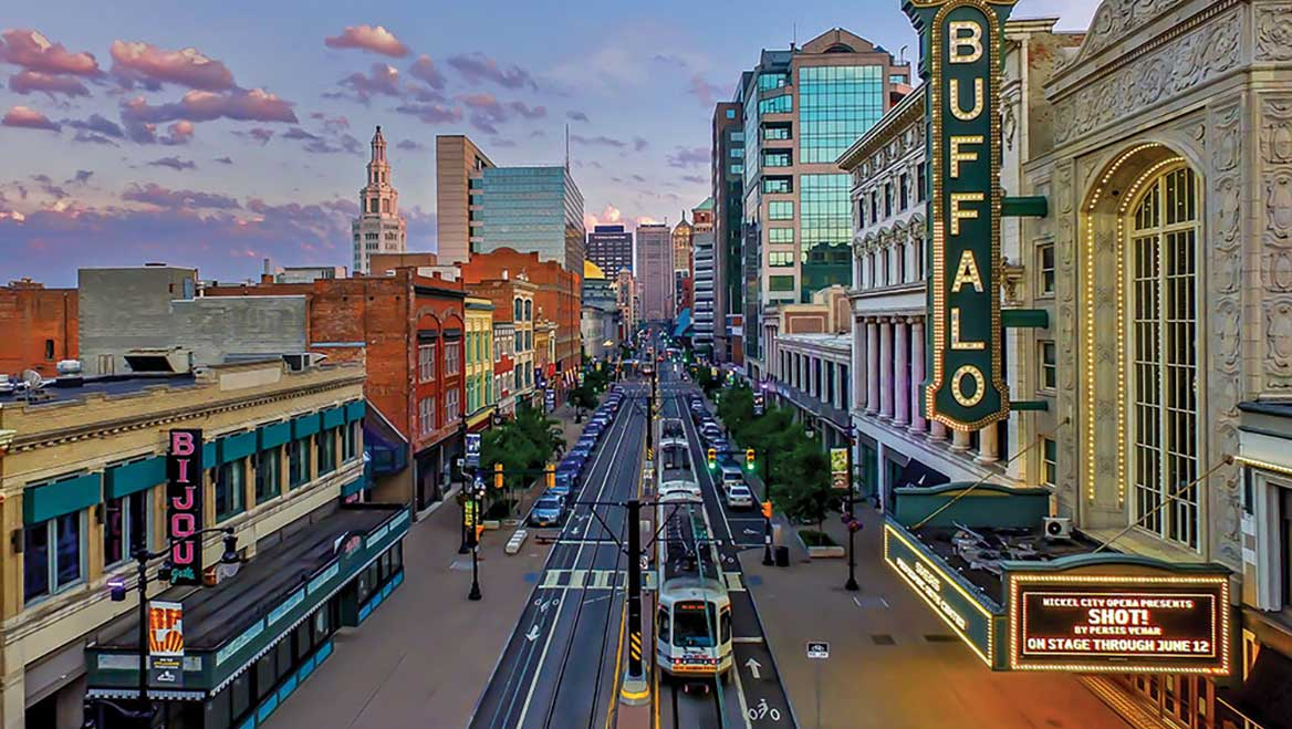 """Buffalo, New York, Mayor Byron Brown declared two years ago that the city would be a """"Climate Refuge City,"""" taking advantage of its location, infrastructure, and amenities. Photo by Michael Shriver/buffalophotoblog.com."""