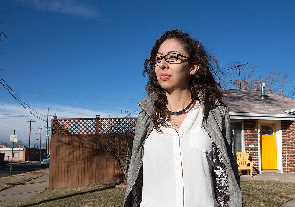 City council member Candi CdeBaca can see four industrial cannabis grow operations from her house in the Elyria-Swansea neighborhood of Denver. Photo by David Kidd/Governing.