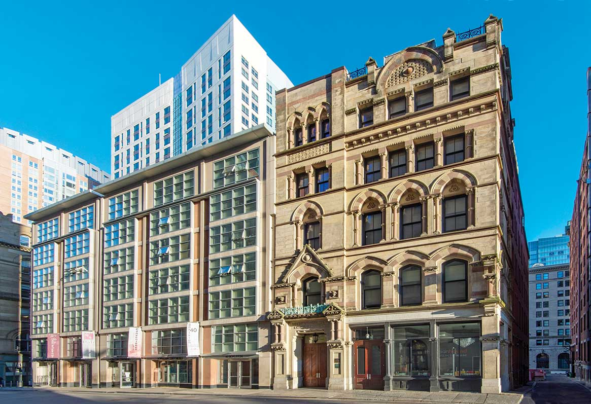 Built in 1875 as the Boston Young Men's Christian Union, The Union at 48 Boylston was rehabbed in 2019 to provide 46 units of affordable housing, including 25 for those who have experienced homelessness. Photo by Joel Howe.