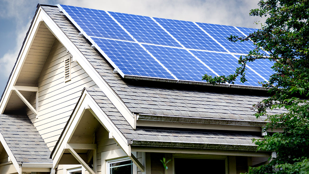 Portland, Maine, is helping homeowners and small businesses install solar panels. Photo by Cindy Shebley/iStock/Getty Images Plus.