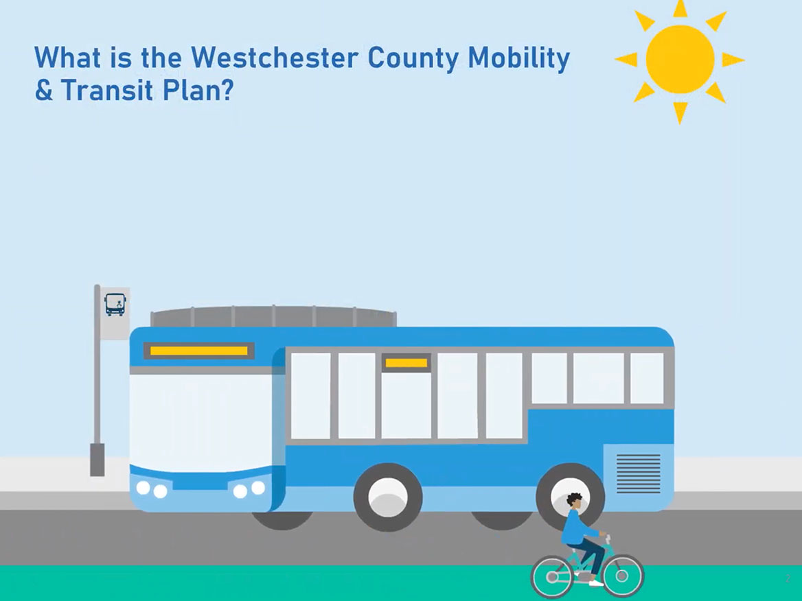 Websites and videos like the one explaining Westchester County's transportation plan are meant to act as a type of public meeting. Image courtesy of Westchester County Department of Planning.