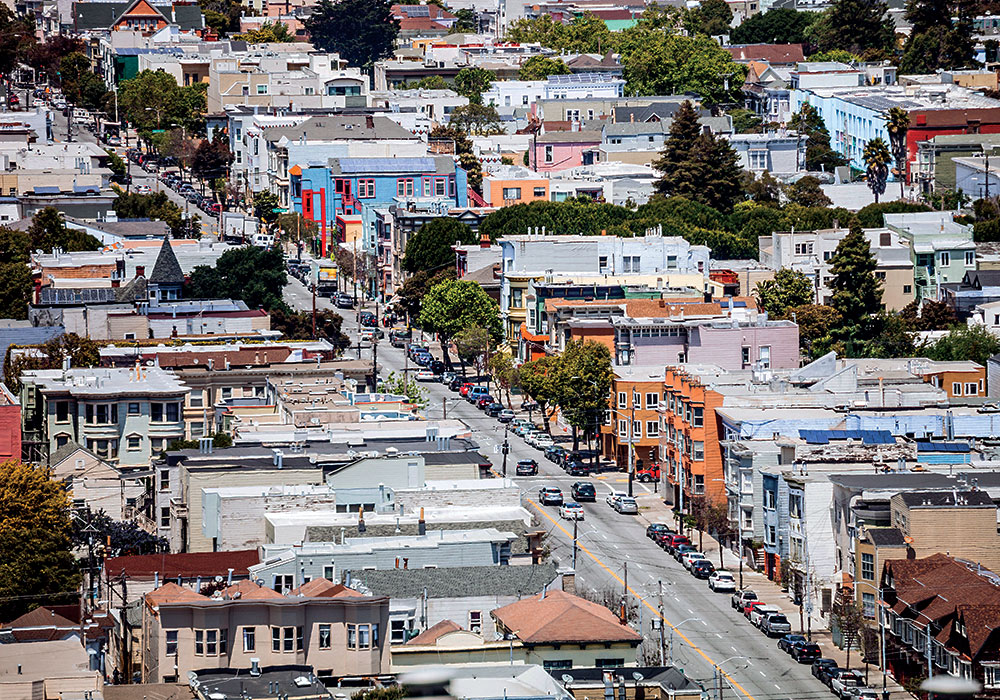 The Mission District of San Francisco.
