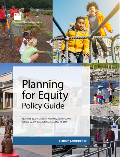 Cover of APA Planning for Equity Policy Guide.
