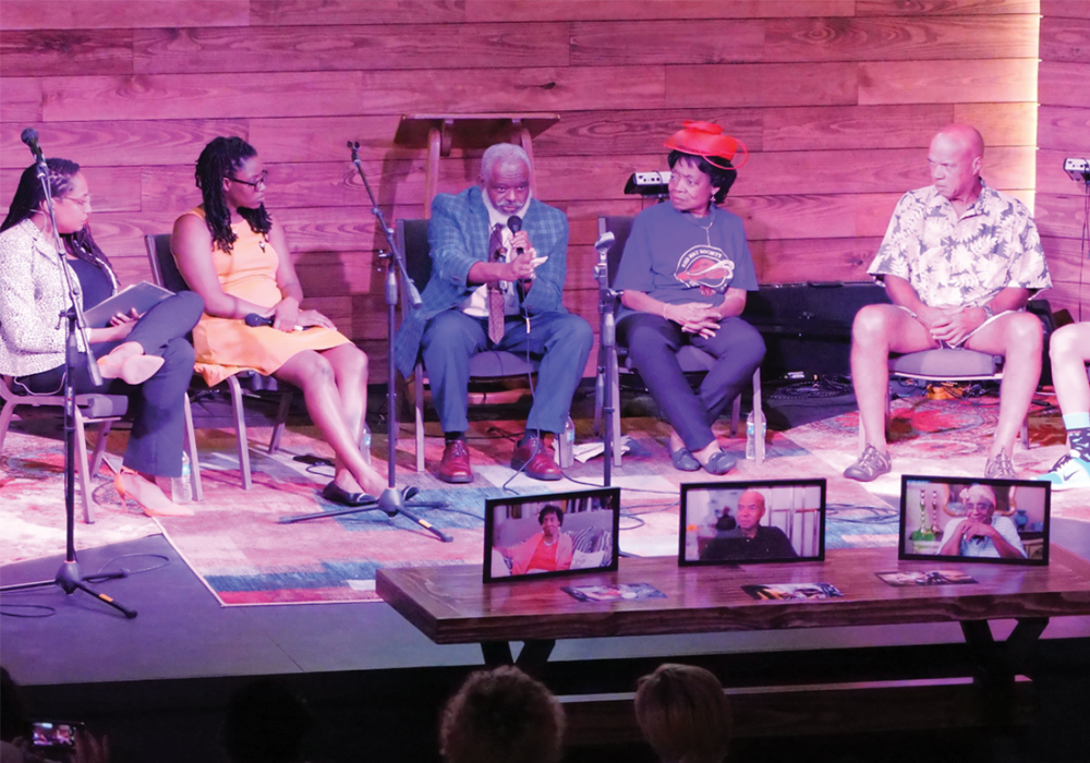 Curators, participants, and community members engage in a conversation about the history of the E. 12th Street District following the premiere of the Reflections of a Legacy documentary. Photo Credit: City of Austin