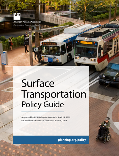 Cover of APA's Surface Transportation Policy Guide.