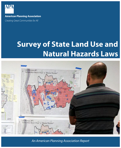 Cover of the report Survey of State Land-Use and Natural Hazards Planning Laws