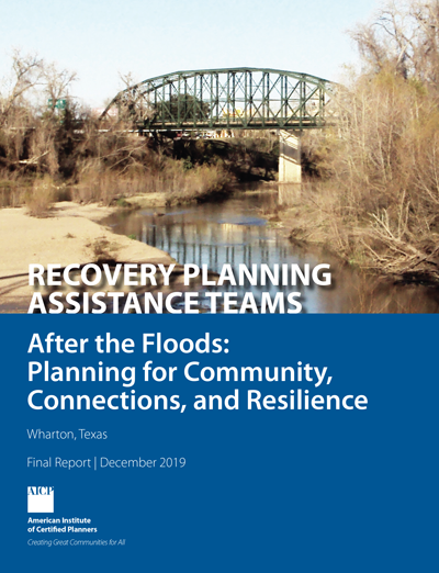 Cover of CPAT report on Wharton, Texas: After the Floods.