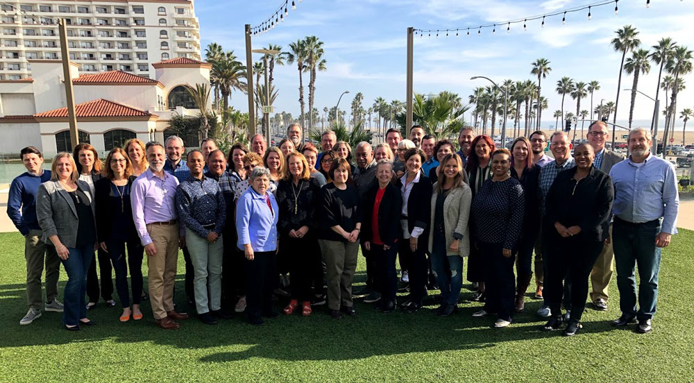 APA leadership and staff at the 2020 winter retreat in Huntington Beach, California. APA photo.
