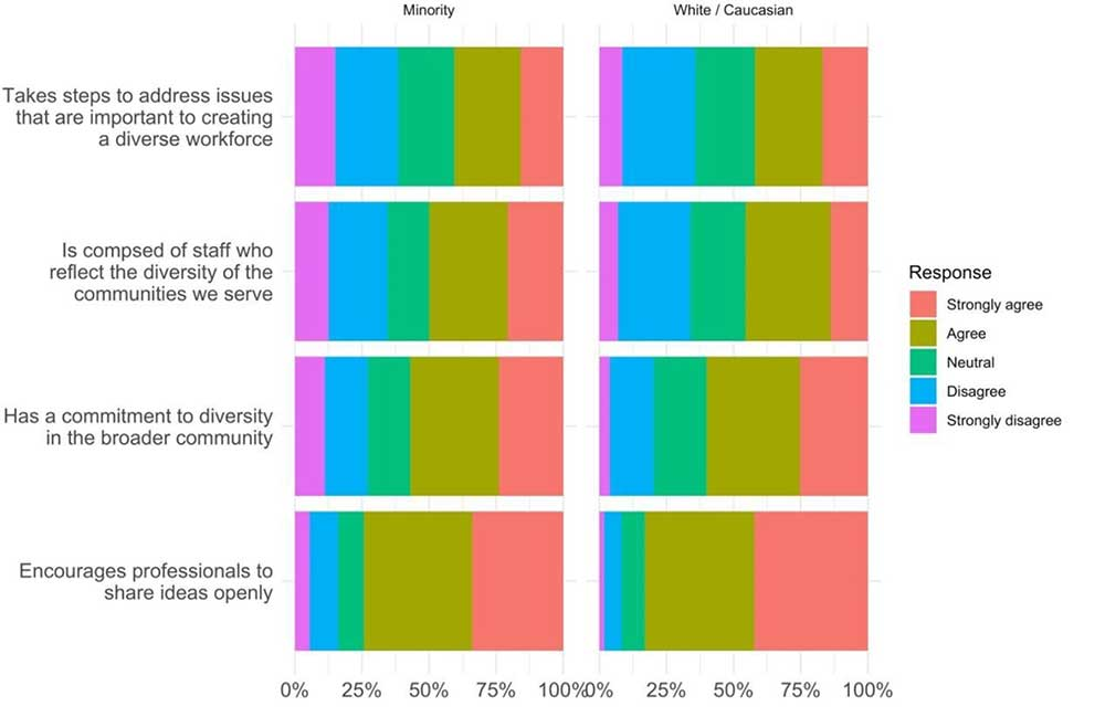 Figure 1: Satisfaction with workplace approach to diversity
