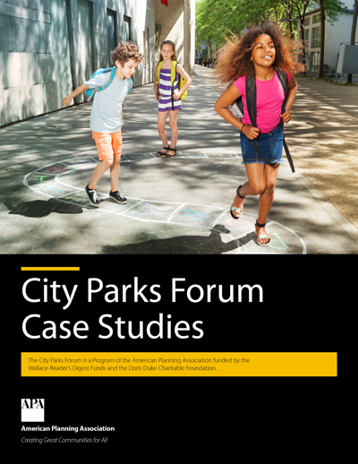 Cover of City Parks Forum Case Studies publication.