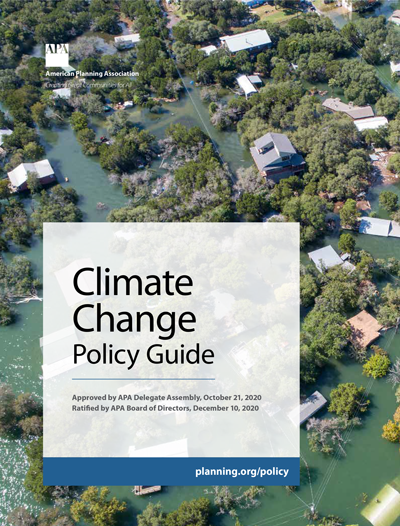 Cover of APA Climate Change Policy Guide.