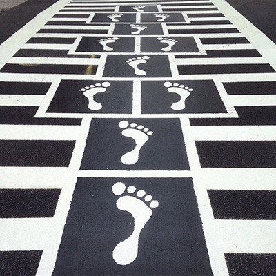 Hopscotch cross walk