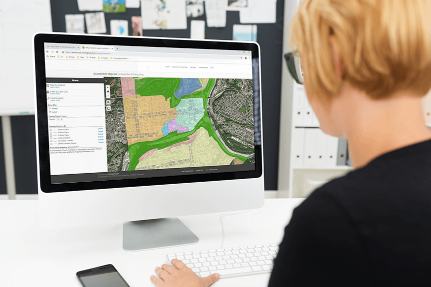 MapLink is a service that presents the essential elements of your community's zoning code through an interactive online map. Photo courtesy General Code.