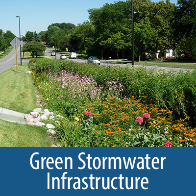 Green Stormwater Infrastructure collection cover for carousel