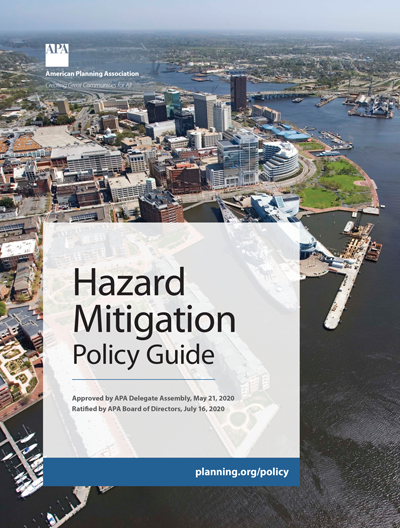 Cover of APA Hazard Mitigation Policy Guide.