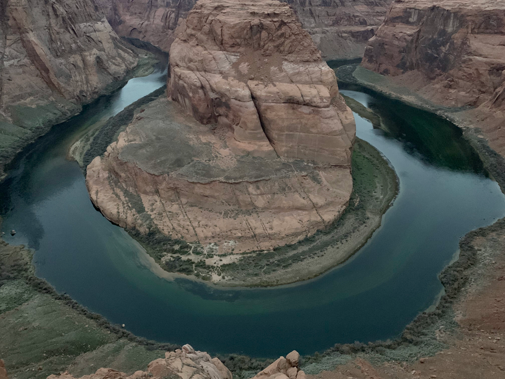 Horseshoe Bend is located steps away from Page, Arizona.