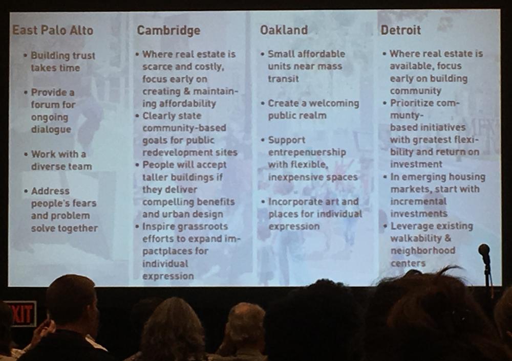 Slide from Inclusive Housing Successes session at NPC19. Photo by Ann Dillemuth.