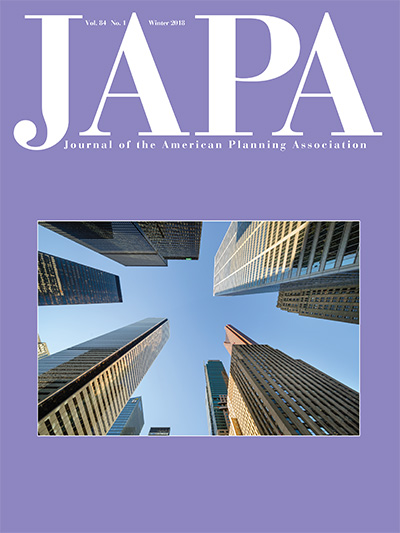 Cover of the Winter 2018 issue of the Journal of the American Planning Association.