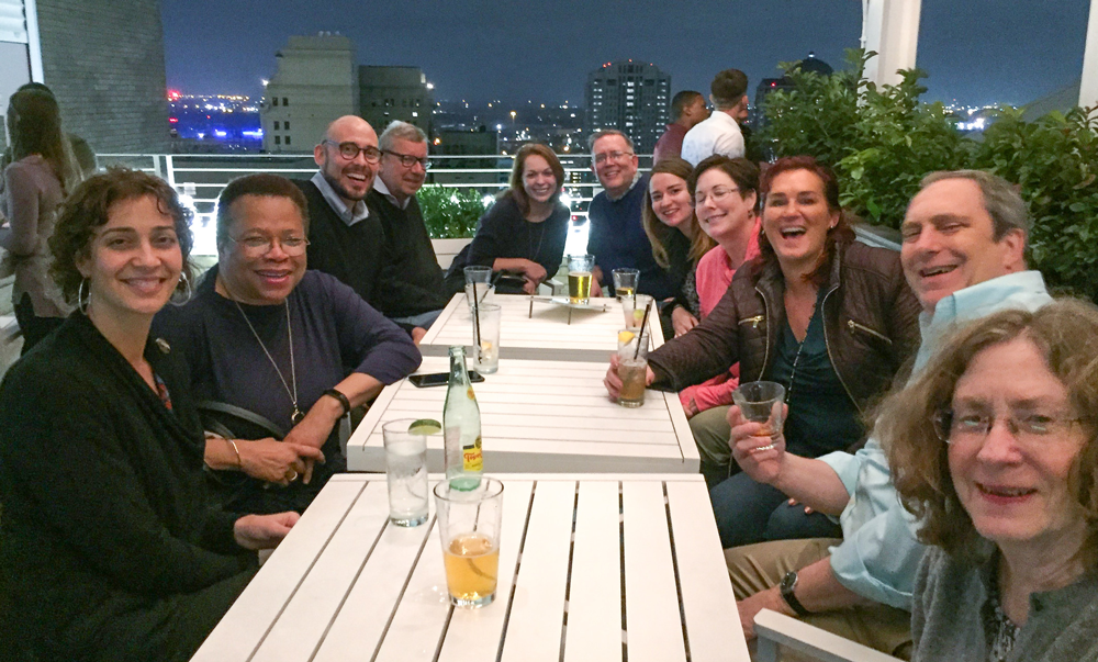 John Reinhardt, third from left, enjoying time with colleagues at the 2018 National Planning Conference in New Orleans. Photo by Jason Beske.
