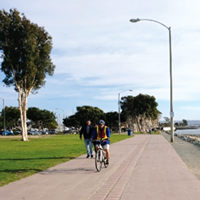 Figure 3a. Class I Bike Path – Also referred to as a multi-use path or shared-use path, Class I facilities provide a completely separated right-of-way designed for the exclusive use of bicycles and pe