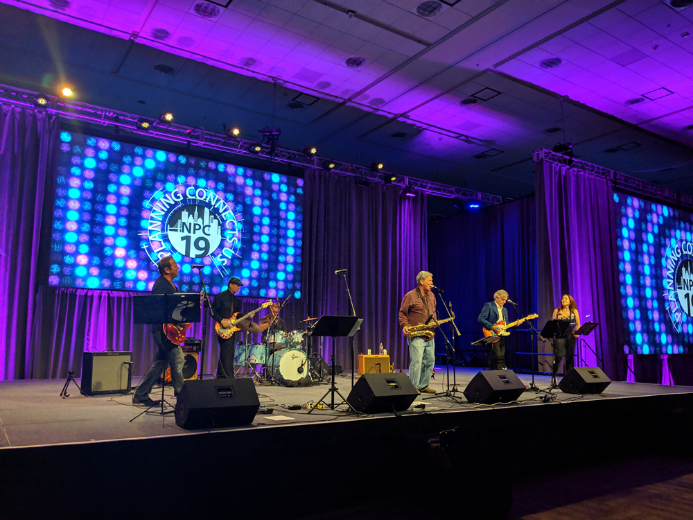 Plan It Rock entertains the crowd at the NPC19 Welcome Reception. Photo by Molly Walsh.