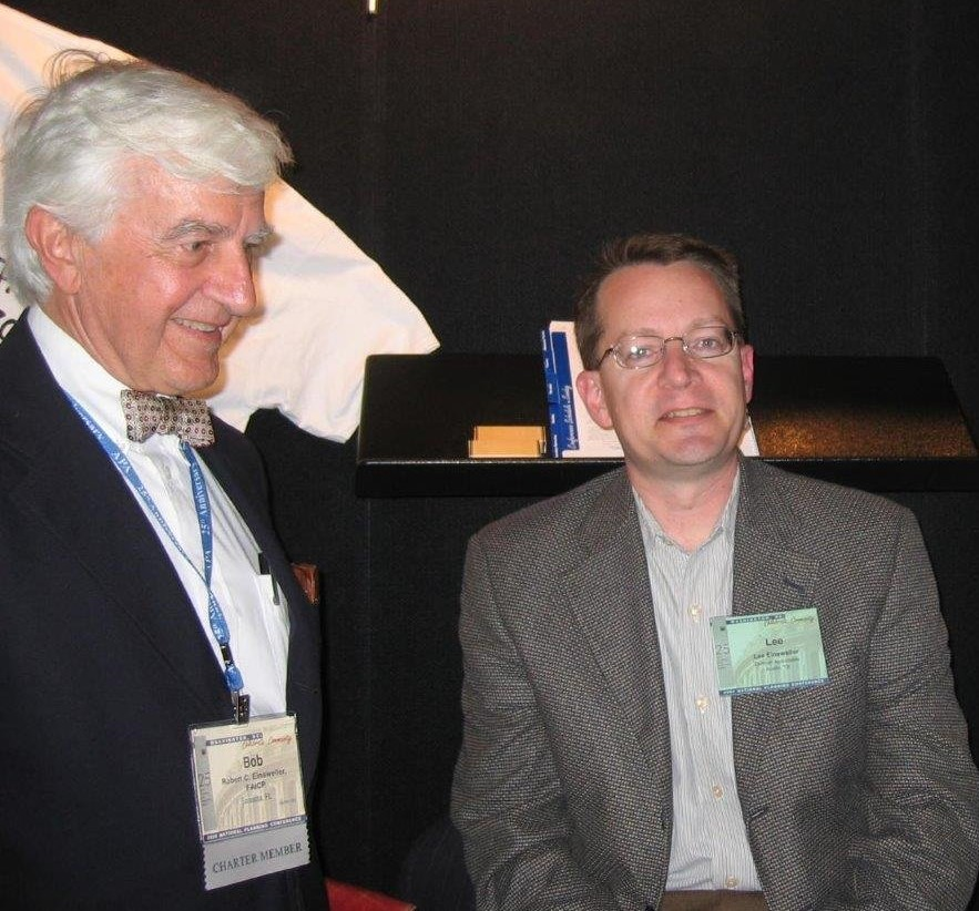Robert Einsweiler and son Lee Einsweiler at an APA conference.