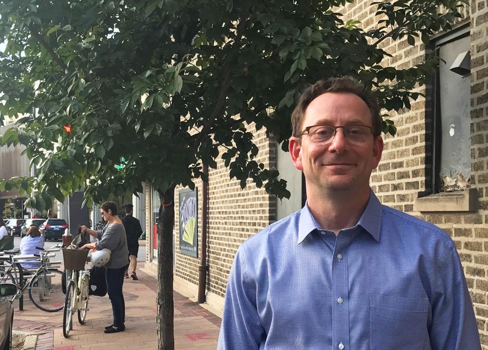 Scott Goldstein, FAICP, on a city street. Photo courtesy Scott Goldstein.