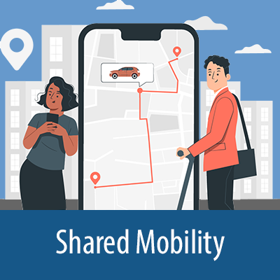 Carousel slide for Shared Mobility collection