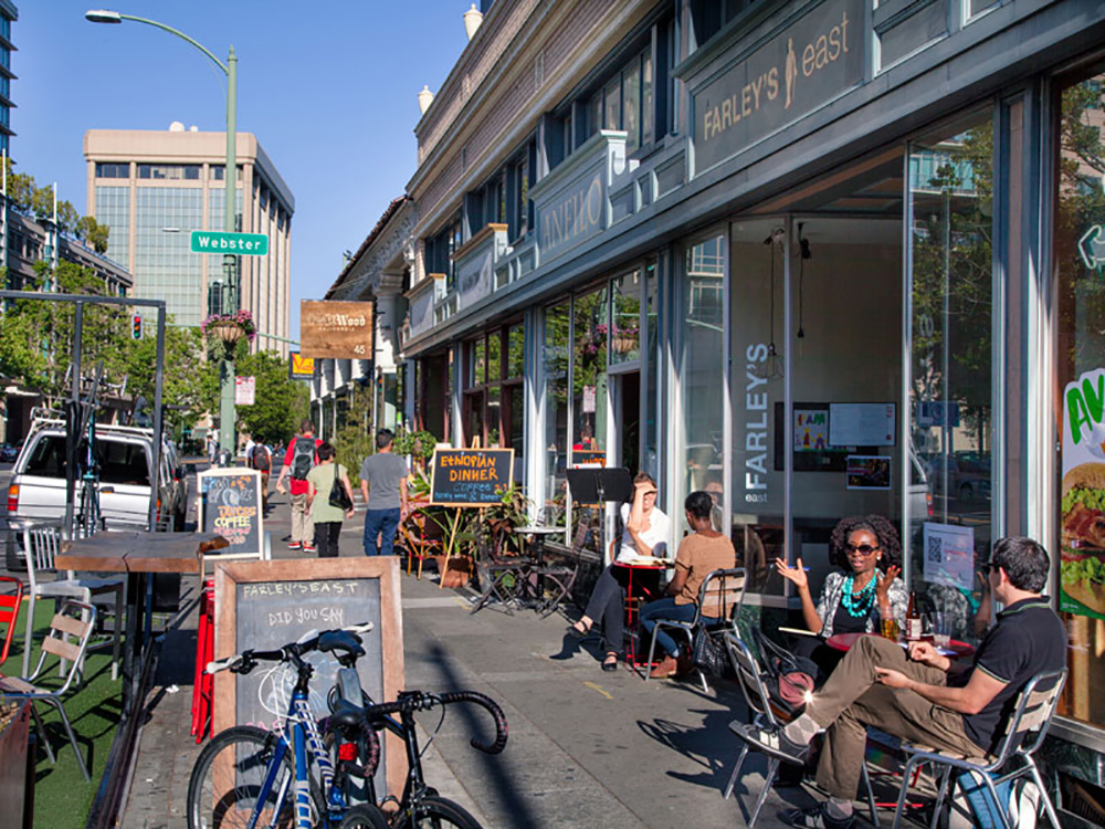 Oakland's Uptown District. Photo Greg Linhares, City of Oakland.