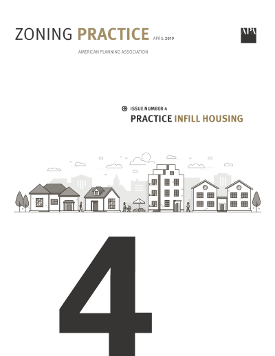 Cover of April 2019 Zoning Practice