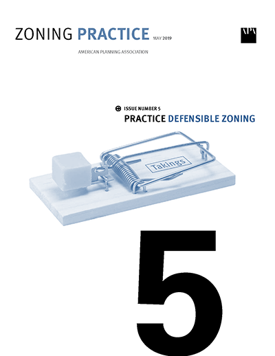 Cover of May 2019 Zoning Practice