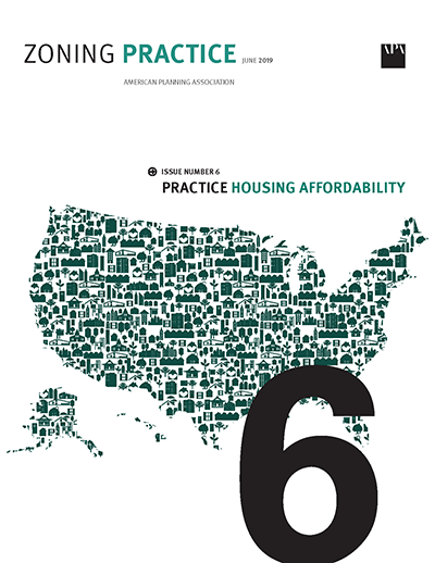 Cover of June 2019 Zoning Practice