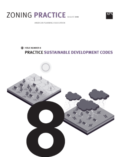 Cover of August Zoning Practice 2019
