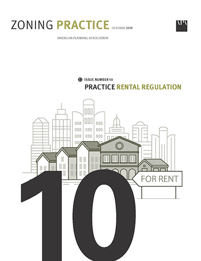 Cover of October 2019 Zoning Practice