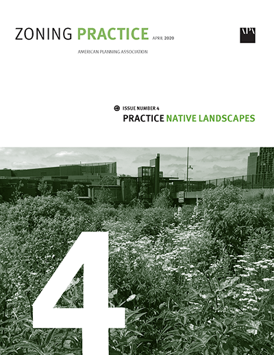 Cover of April 2020 Zoning Practice
