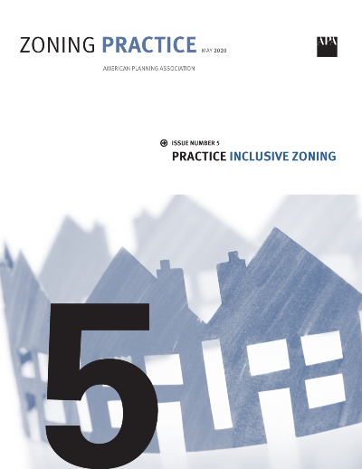 Cover of May 2020 Zoning Practice
