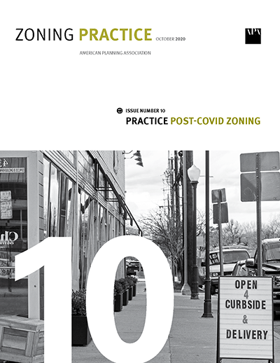Cover of October 2020 Zoning Practice