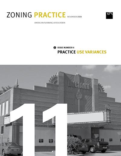 Cover of November 2020 Zoning Practice