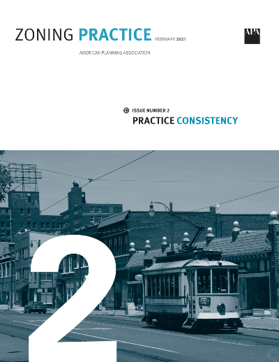Cover of Zoning Practice February 2021