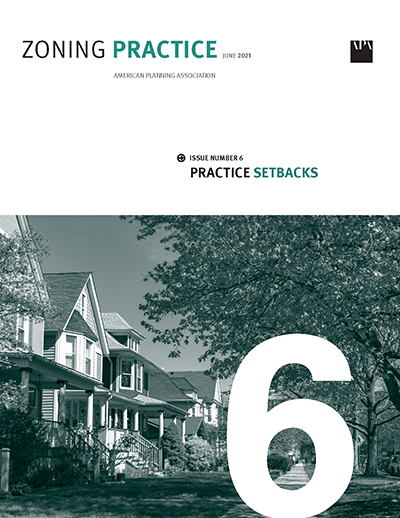 Cover of June 2021 Zoning Practice