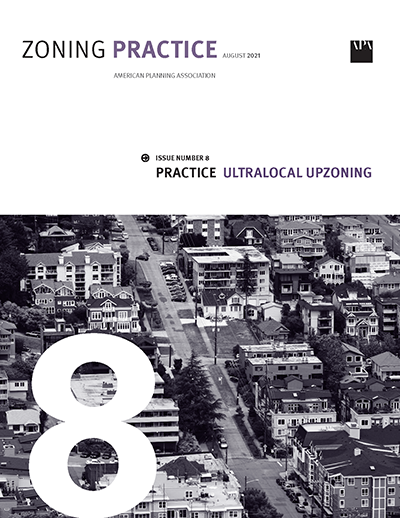 Cover of August 2021 Zoning Practice