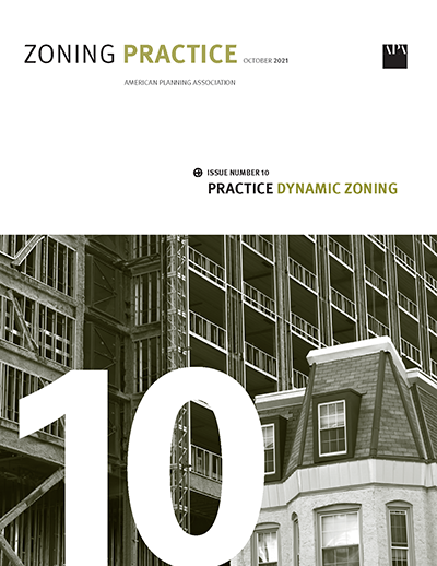 Cover of October 2021 Zoning Practice
