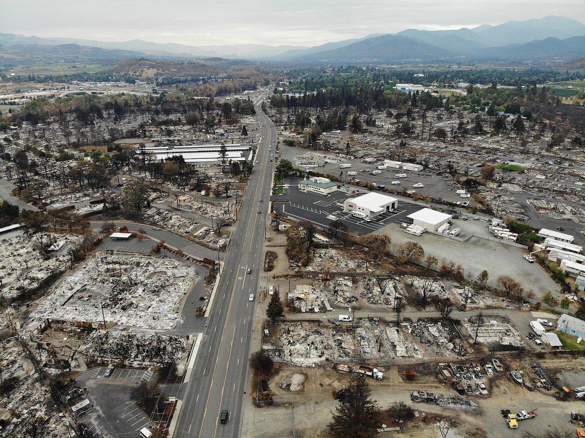 Almeda Fire Aftermath OR 99 September 25, 2020. Source: ODOT