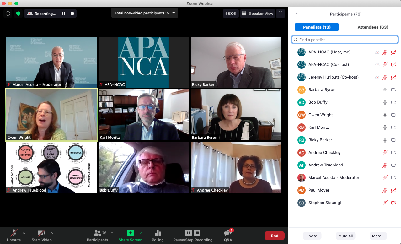 Screenshot of virtual conference session