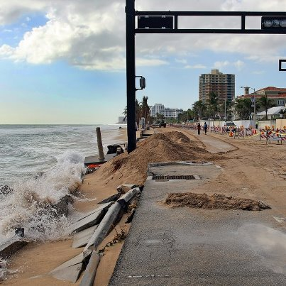 Damage from Tropical Storm Sandy in Fort Lauderdale