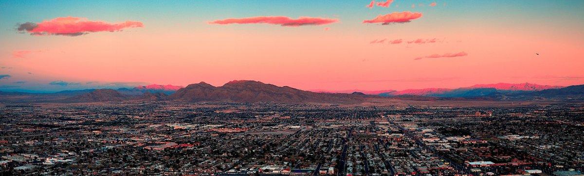 Birds eye view of urban community in Nevada.