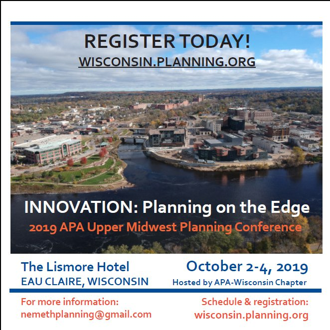 Register Today for the Upper Midwest APA conference, hosted by APA - WI.