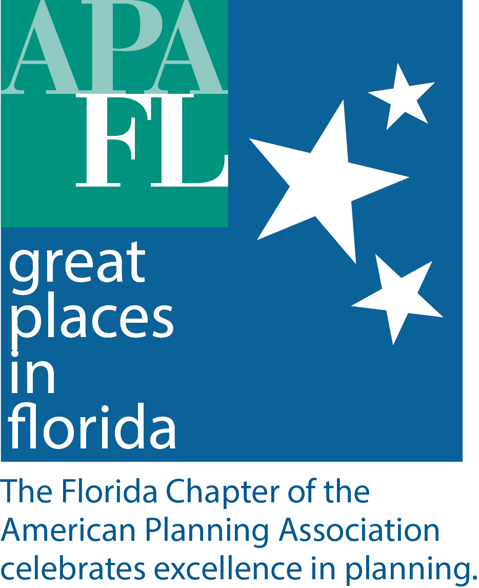great places in florida logo with stars